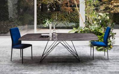 Italian Design - Modern ceramic dining table PEGASO By Riflessi