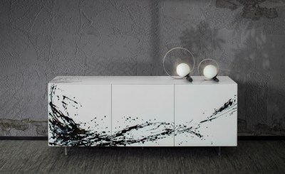 Luxury and Modern Italian Design sideboard ESSENENZIA ART by Riflessi