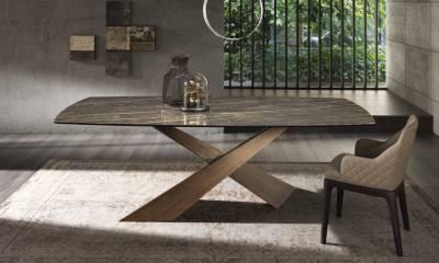 RIFLESSI MODERN CERAMIC TOP DINING TABLE