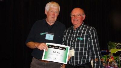 Bill Rae receives Life Membership from President Bob Phillips
