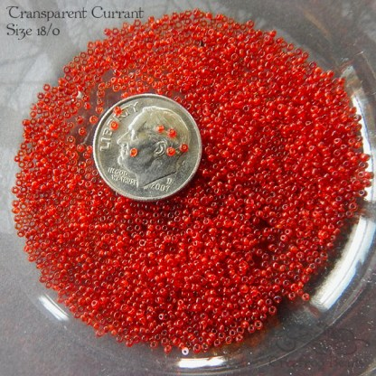 18/0 seed beads tsp currant