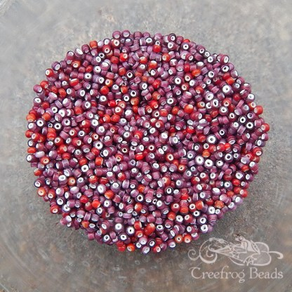 vintage Italian white heart seed beads