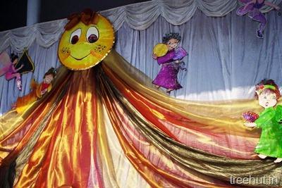 School Stage Backdrop Decoration
