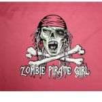 Zombie Pirate Girl Flag (12″ X 18″ – Nylon)
