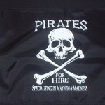Pirates for Hire 2′ x 3′ Flag