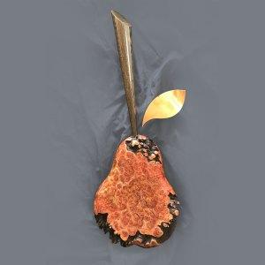 Burr em pear sculpture