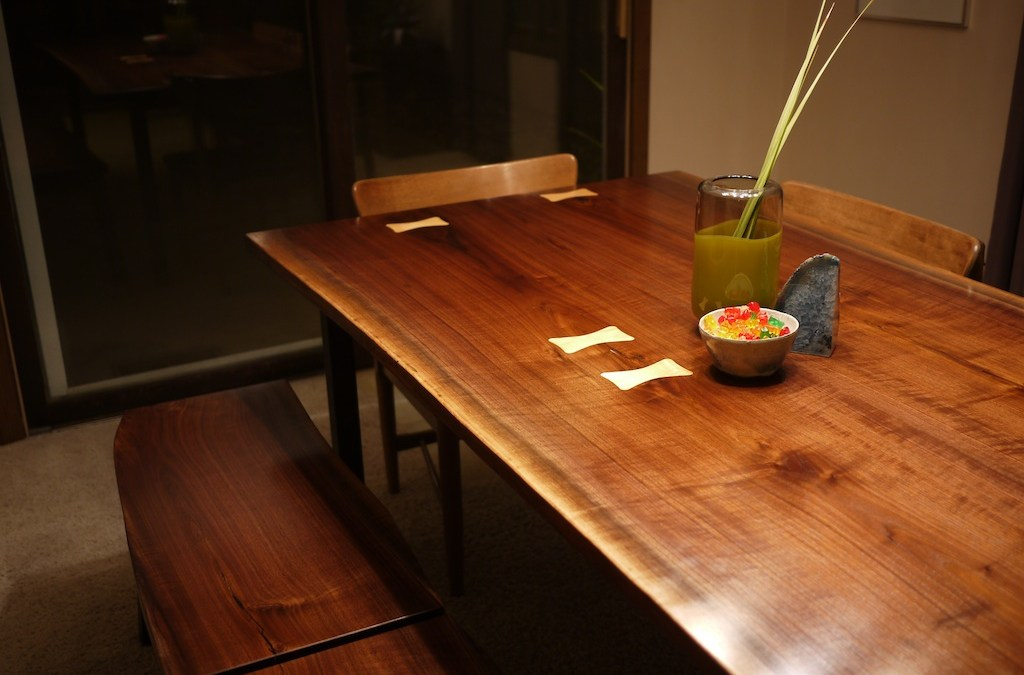 Walnut Slab Dining Set