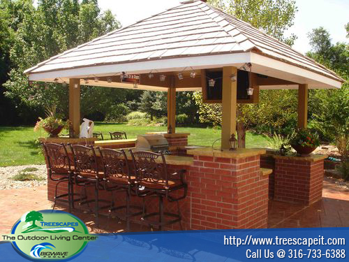 custom outdoor kitchens quartz countertops colors for grill islands & kitchen cabanas - treescapeit
