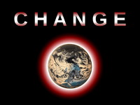 "Change Logo for Kickstarter: This is my logo for the Kickstarter campaign for ""Change,"" an urban fantasy novel about climate change."