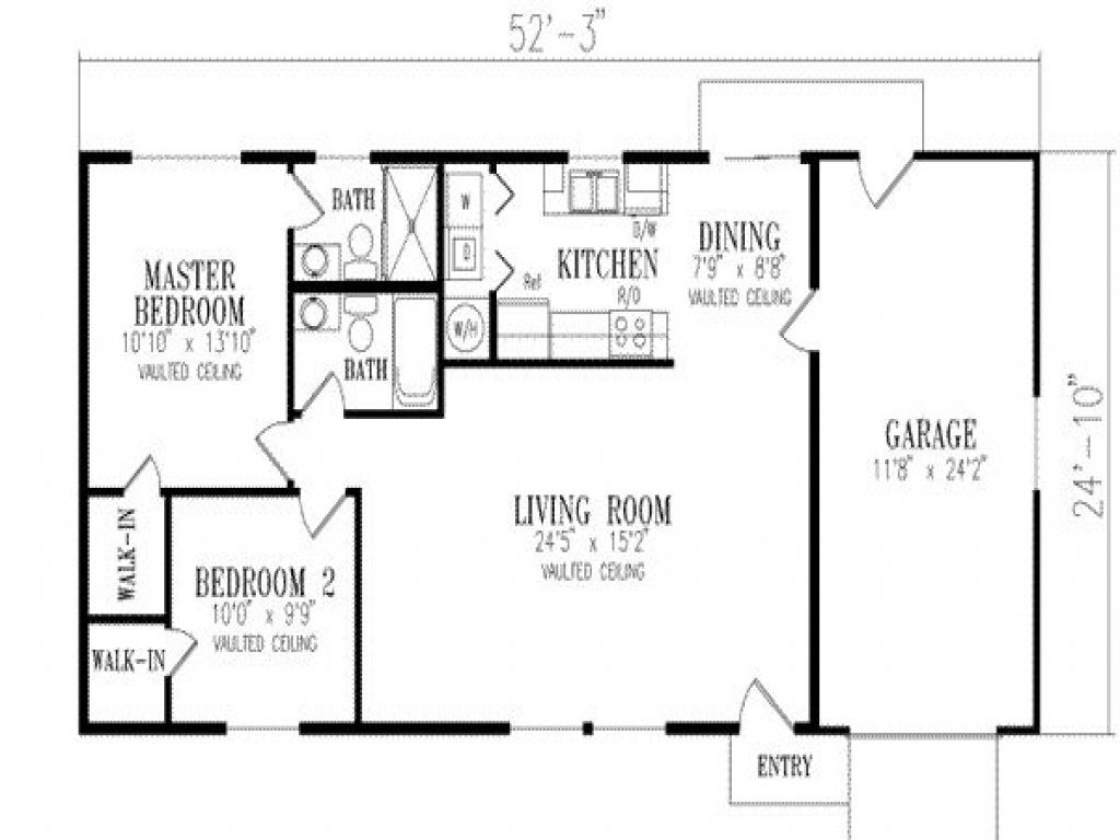 Parking Space On 1 Levels House Plan All House