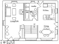 Simple Small House Floor Plans Cottage Floor Plan, small ...