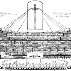 Pirate Ship Inside Diagram Double Dimmer Switch Wiring Uk Titanic Cutaway Views, Decks On A - Treesranch.com