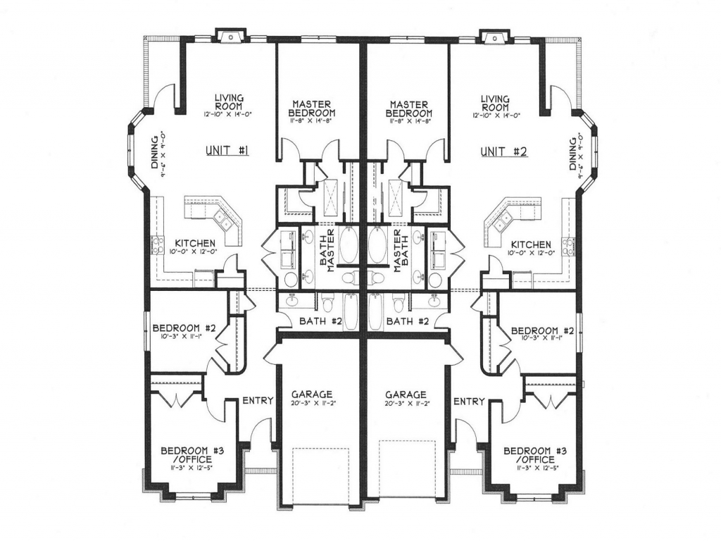 Modern Duplex House Plans Duplex House Designs Floor Plans