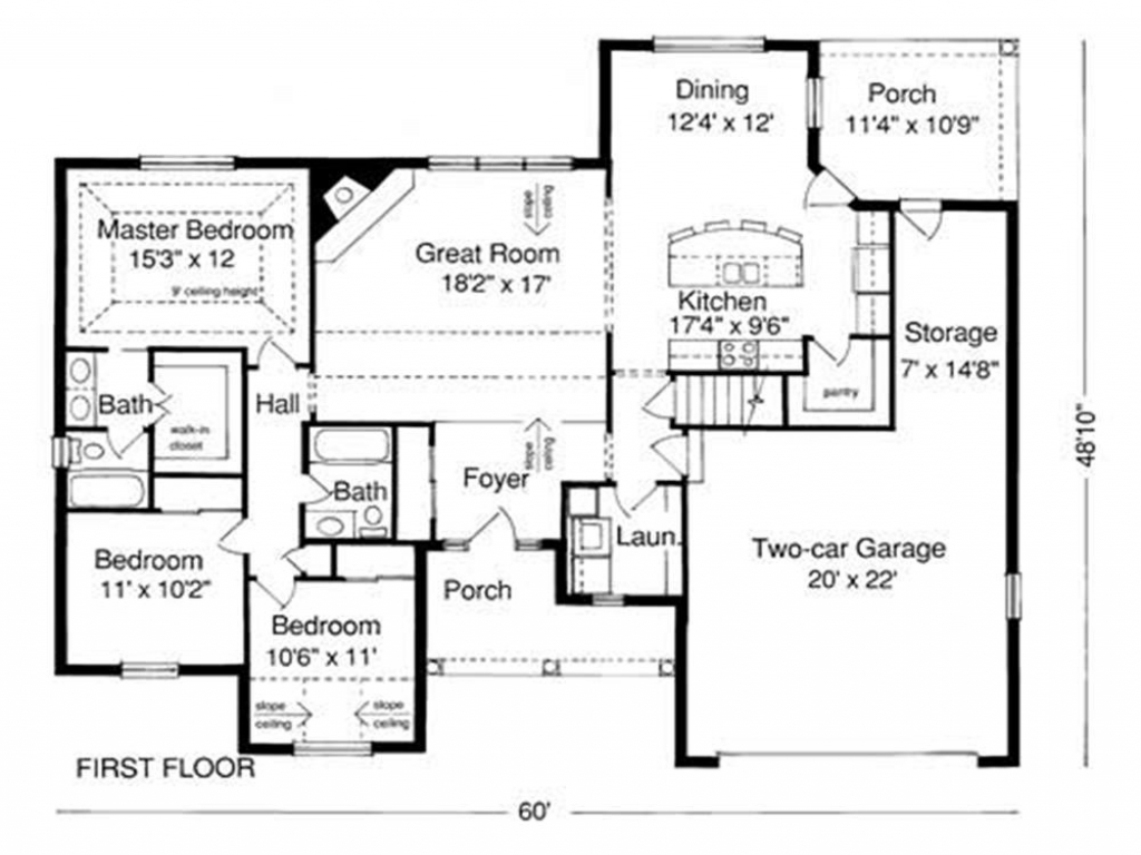 Example of House Plan Blueprint Examples of House Windows
