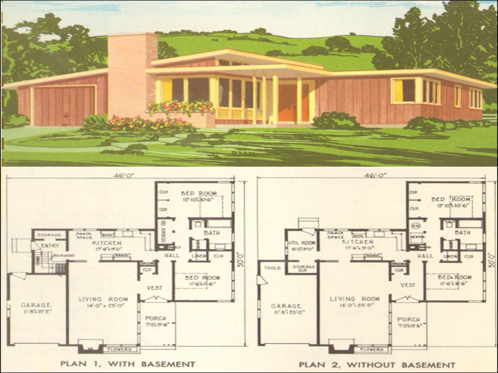 Mid Century Modern Ranch Mid Century Modern Home Plans