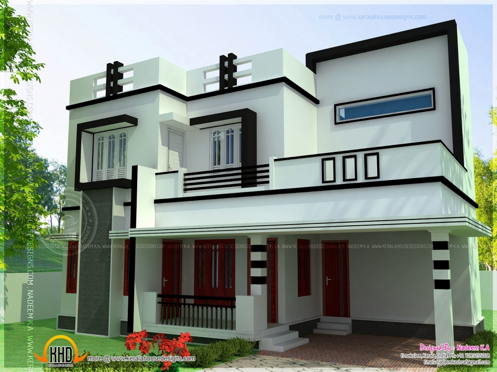 4 Bedroom House Plans Flat Roofs Residential House Plans 4