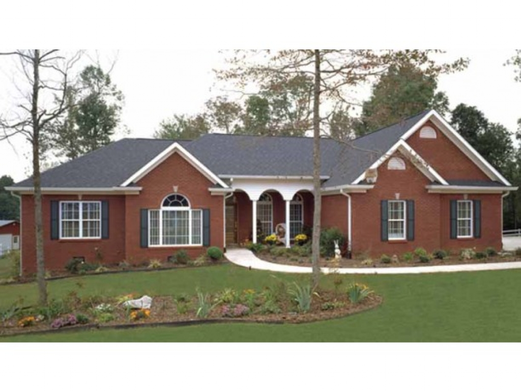 Brick Ranch Style House Plans Painted Brick Ranch Style