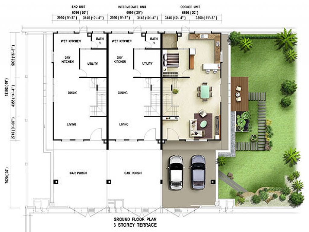 Terrace House Floor Plan Texas House Plans terrace house