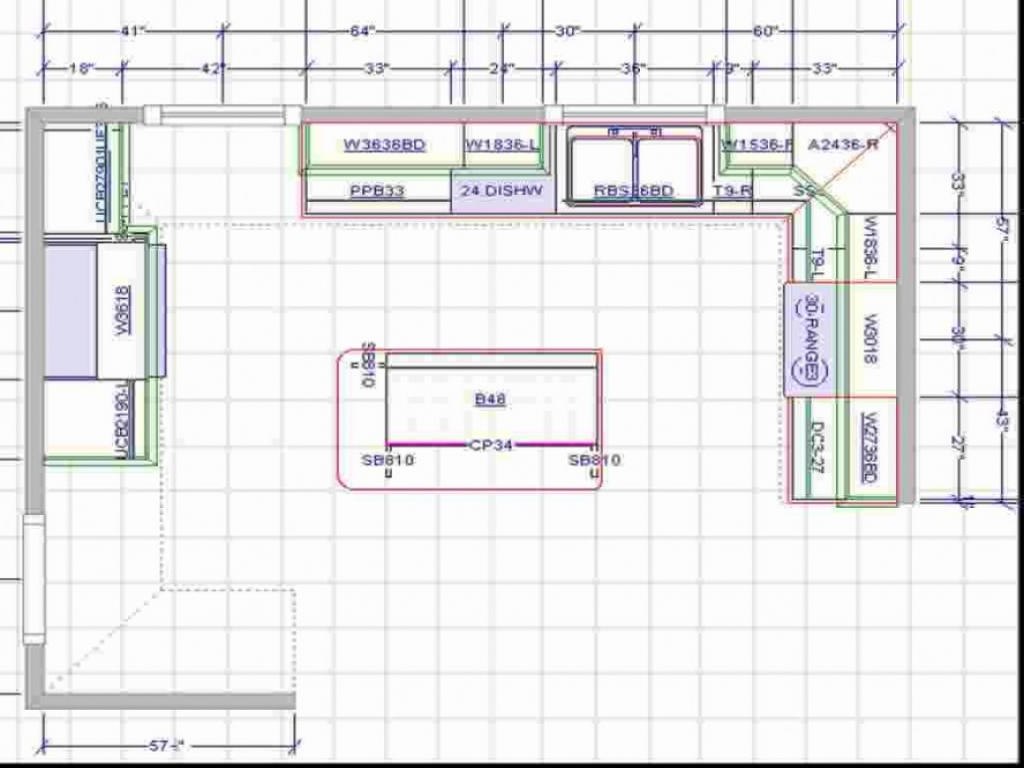 Large Kitchen with Islands Floor Plans Lshaped Kitchen
