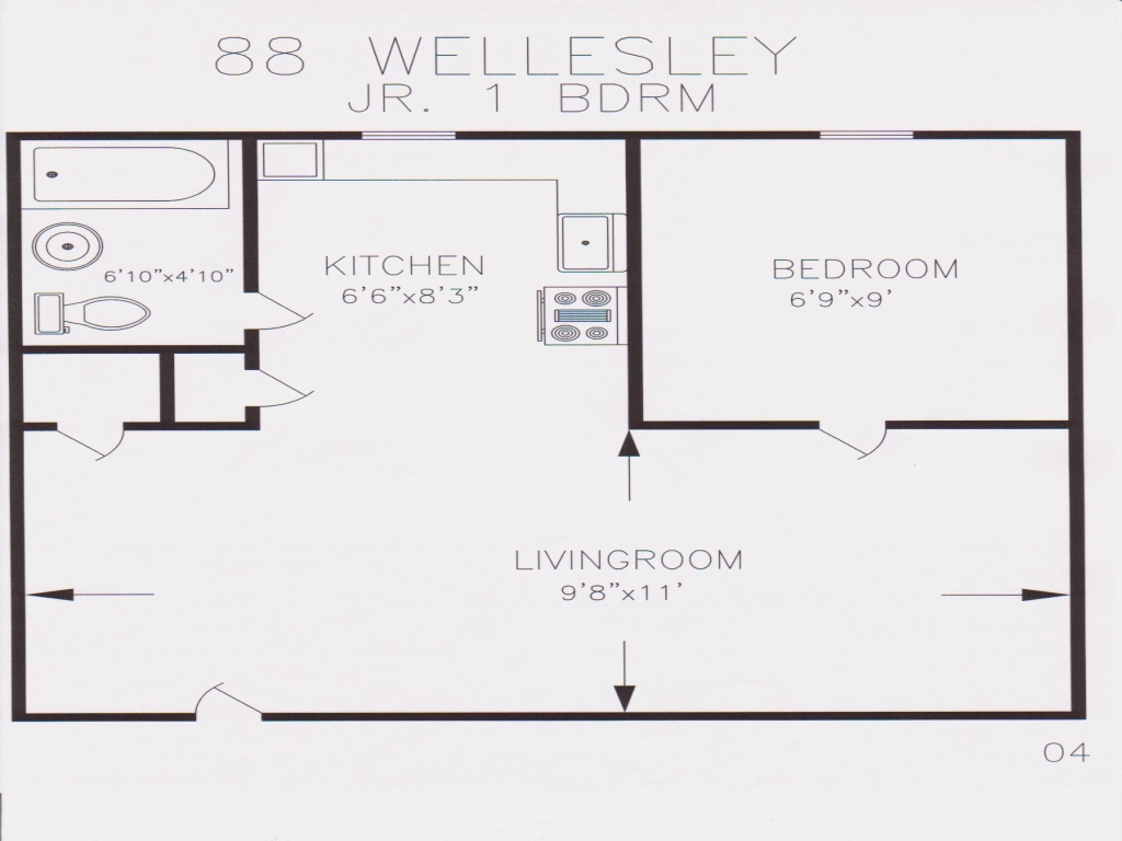 550 Square Foot Apartment Floor Plan 550 Sq Ft Homes 850