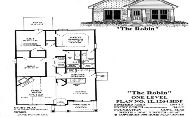 Small Single Level House Plans One Level Living House