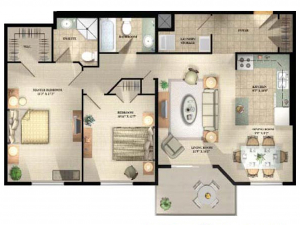 Sq Ft Apartment