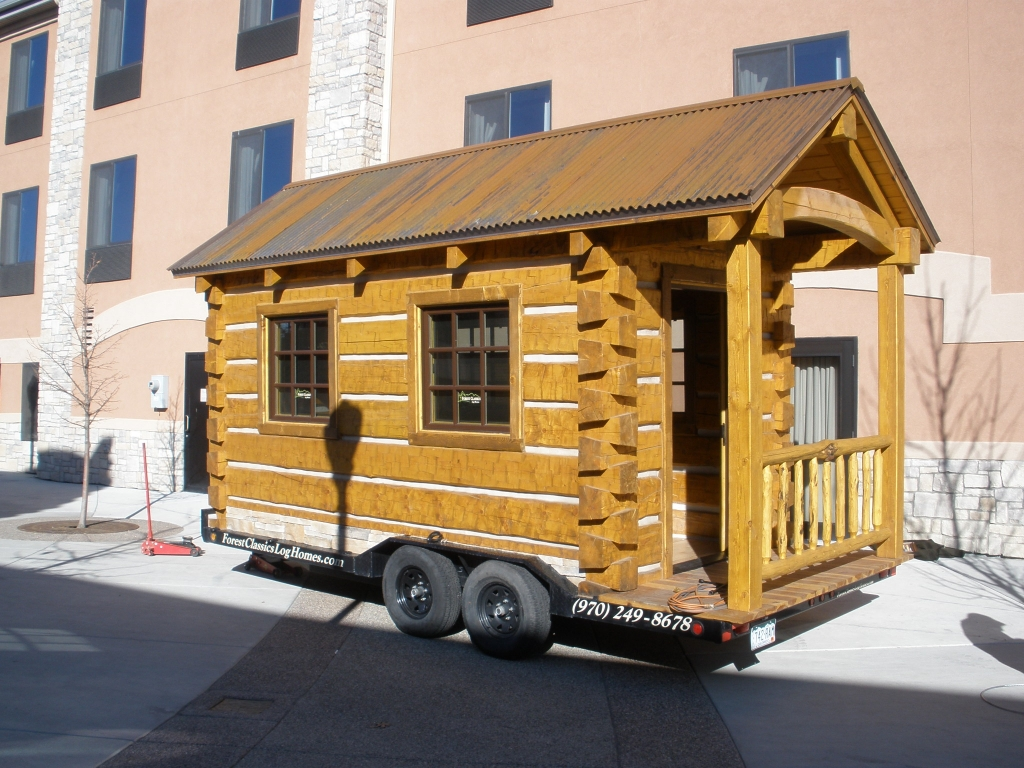 Portable Log Cabins Cabins On Wheels Used small hunting