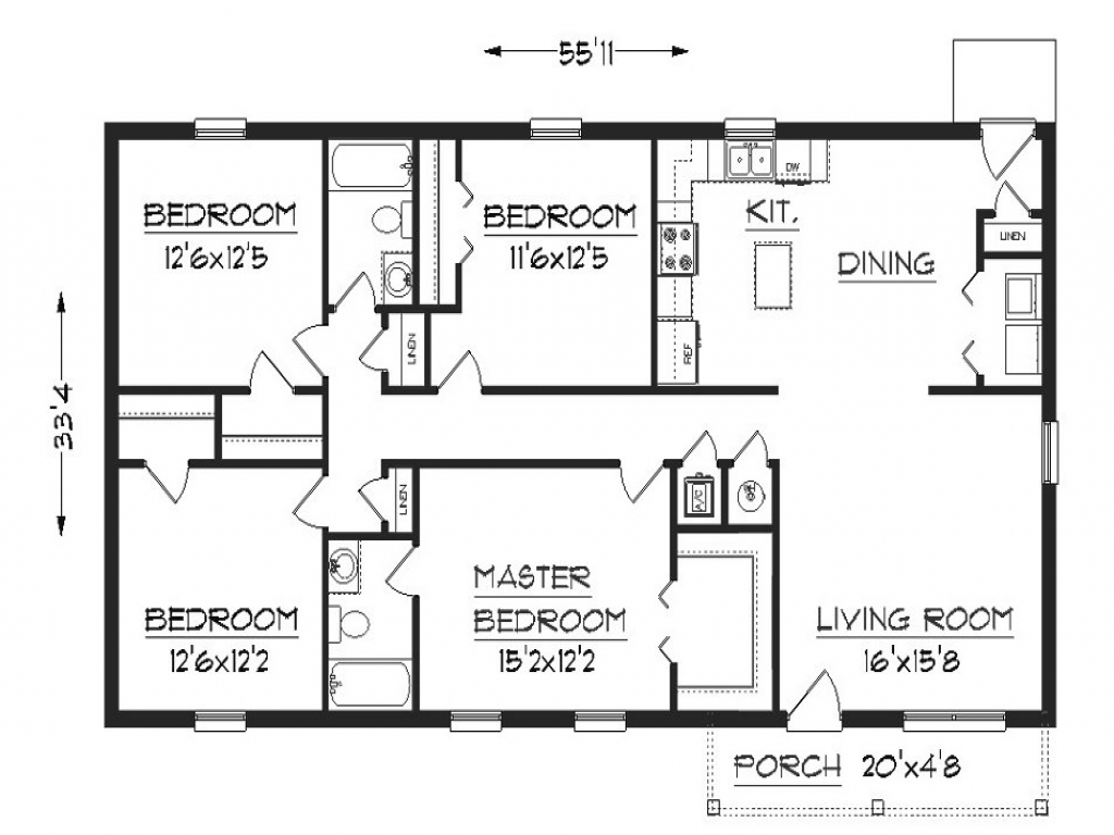 Simple Small House Floor Plans Small House Floor Plans Under Sq Ft House Plans For Small