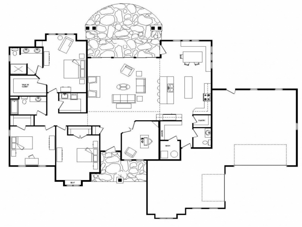 Open Floor Plans One Level Homes Simple Floor Plans Open