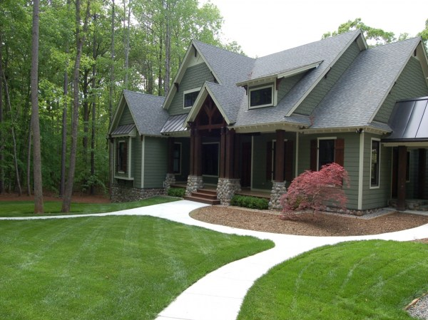 craftsman style home landscaping