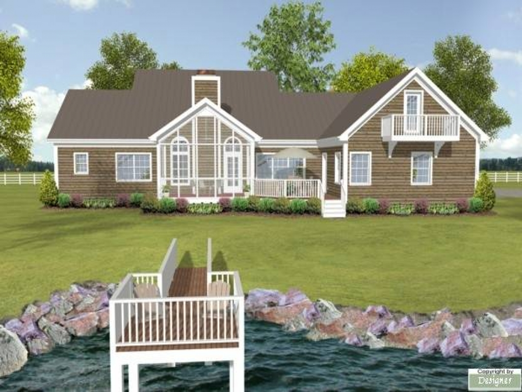 Lake House Plans with Rear View Lake House Plans with Rear