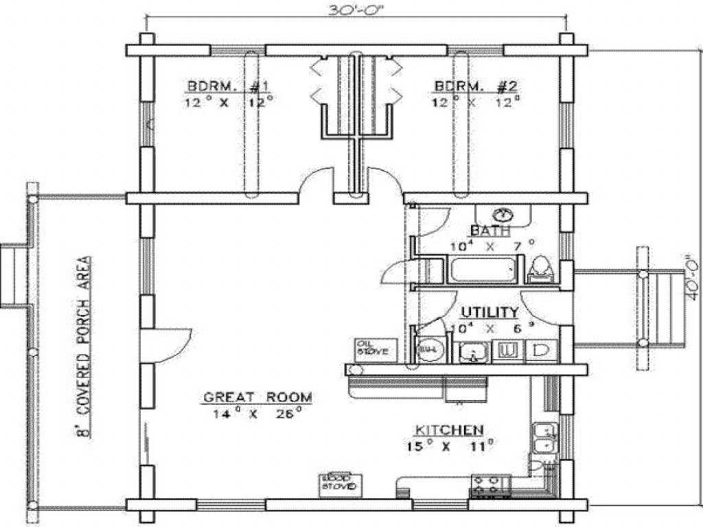 Sq Ft House Plans 2 Bedrooms 2 Baths Sq Foot