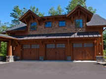 Log Cabin House Plans with Garage
