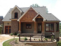 Craftsman Style Lake House Plans Living
