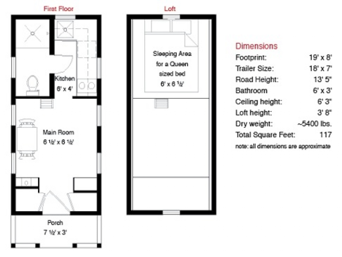 Tumbleweed Tiny House Floor Plans Tiny House Floor Plans