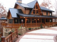 Two-Story Log Cabin Two Story Log Homes with Wrap around ...