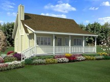 Country House Plans With Porches Small Farmhouse