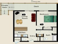 Small One Bedroom House Floor Plans Simple Small House