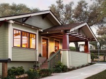 Craftsman Bungalow House Plans with Front Porch