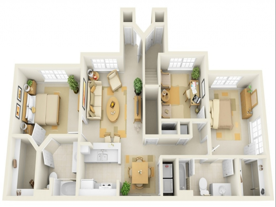 Cheap 3 Bedroom House Plan 3Bedroom Houses for Rent