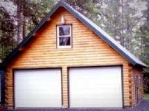 Log Home Plans with Garages