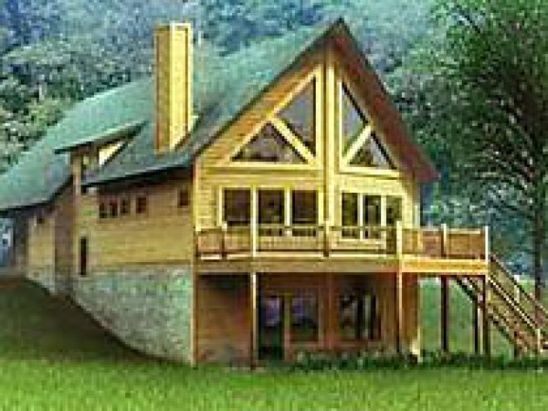 Chalet Style Log Home Plans House Kits