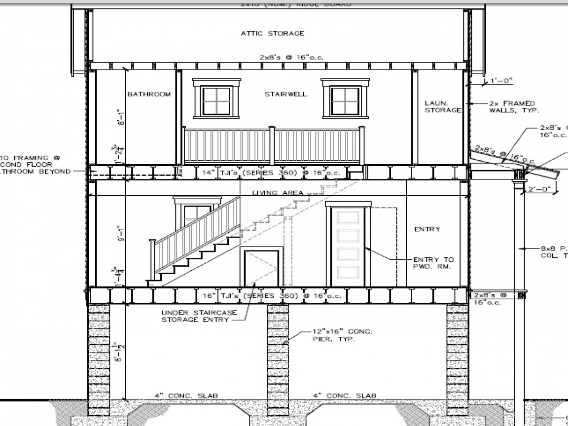 Simple One Floor House Plans Beach Shack House Plans