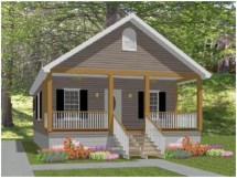 Small Cottage House Plans With Porches Simple