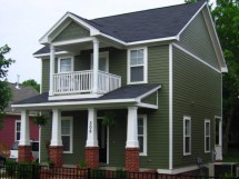 Two-Story House Plans with Balcony