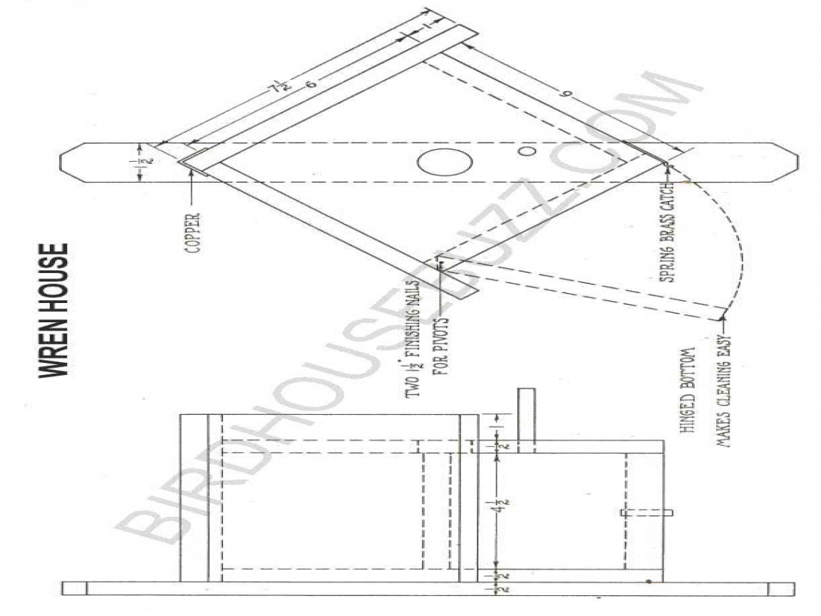 Bluebird Bird House Plans Free Peterson Bluebird House