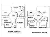 Two Story House Floor Plans Simple Two-Story House, two ...
