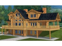 Log Cabin House Plans with Basement
