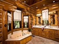 Walk through Shower Master Bathroom Log Home Master ...