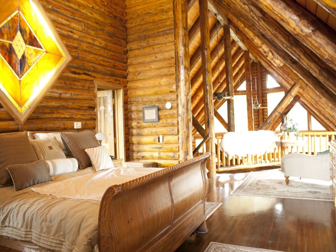 Small Cabins with Lofts Log Home with Loft Bedroom 4
